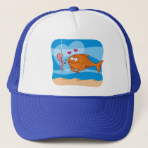 Fish and Bait in Love Trucker Hat
