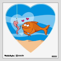 Fish and Bait in Love Wall Decal