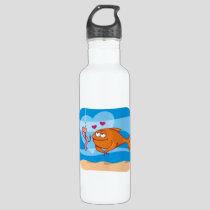 Fish and Bait in Love Water Bottle