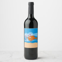 Fish and Bait in Love Wine Label