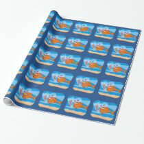 Fish and Bait in Love Wrapping Paper