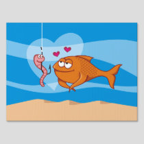 Fish and Bait in Love Yard Sign