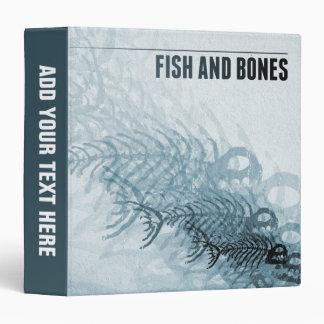 Fish And Bones 3 Ring Binder