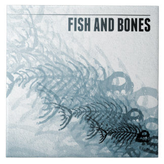 Fish And Bones Large Square Tile