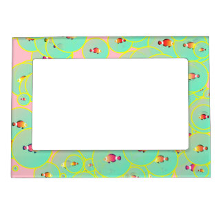 Fish and bubbles magnetic frames