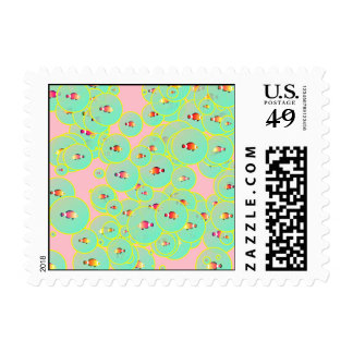 Fish and bubbles postage