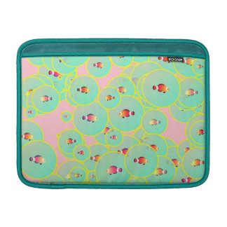 Fish and bubbles sleeve for MacBook air