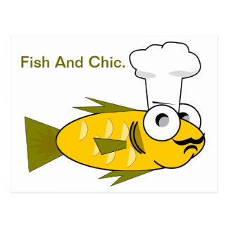 Fish And Chic. Postcard