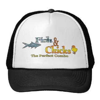 Fish and Chicks Funny Fishing Trucker Hat