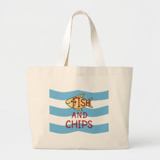 Fish and Chips 2 Large Tote Bag