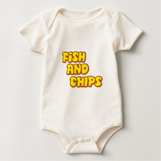 fish and chips baby bodysuit