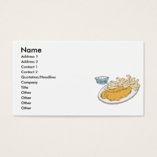 fish and chips business card