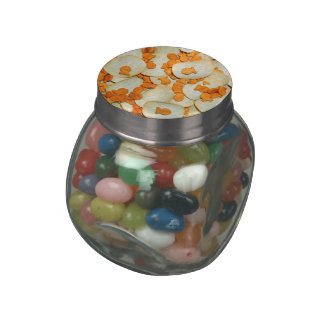 Fish And Chips Glass Candy Jars