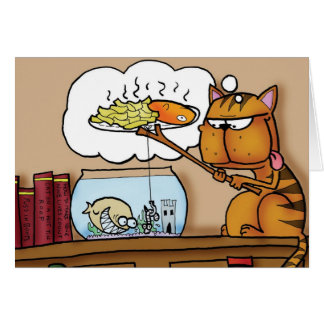 Fish and Chips Cat Cards