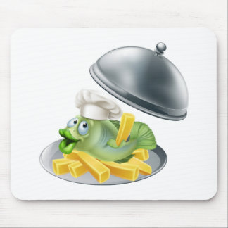 Fish and chips platter mouse pad