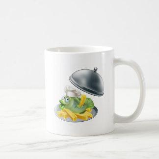 Fish and chips platter mug