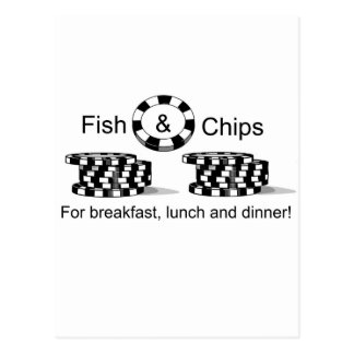 Fish and Chips poker cards stickers