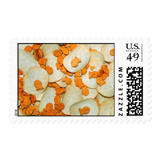 Fish And Chips Postage Stamps