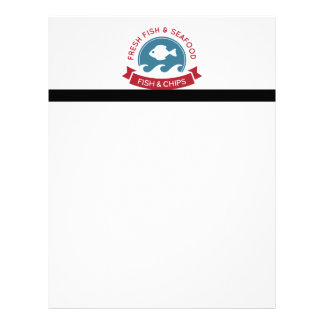 Fish And Chips Seafood Logo Letterhead