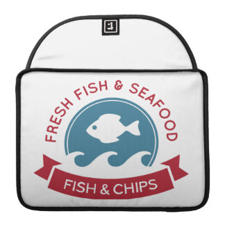 Fish And Chips Seafood Logo Sleeve For MacBook Pro