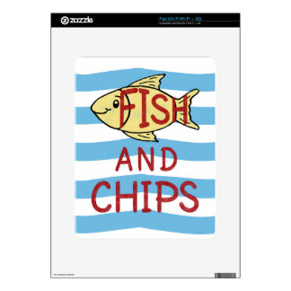 Fish and Chips Square Design Decal For iPad