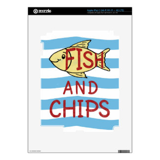 Fish and Chips Square Design iPad 3 Skins