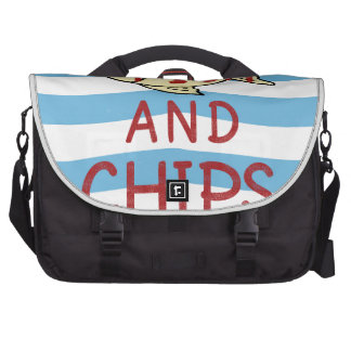 Fish and Chips Square Design Laptop Bag