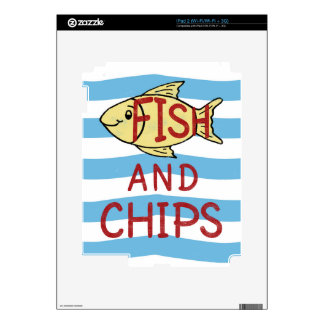 Fish and Chips Square Design Skins For iPad 2