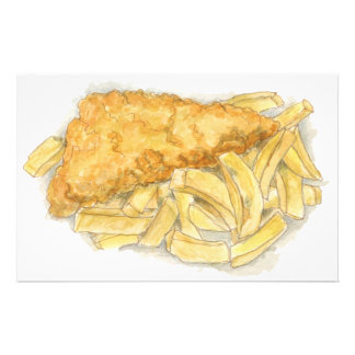 fish and chips stationery
