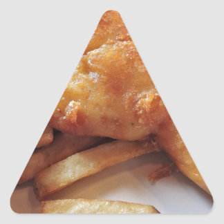 Fish And Chips Triangle Sticker