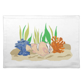 FISH AND CORAL CLOTH PLACEMAT