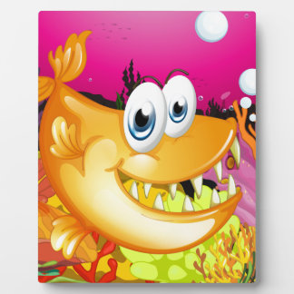Fish and coral reef photo plaque