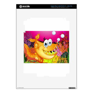 Fish and coral reef decal for iPad 3