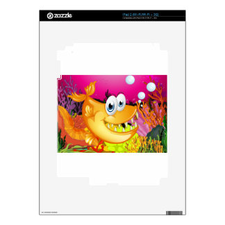 Fish and coral reef decals for iPad 2