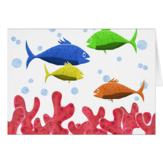 Fish and corals card