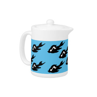Fish and Musical Note Teapot