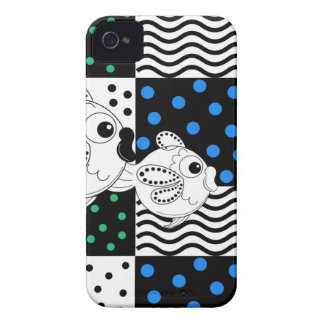 Fish and Patterns Op Art iPhone 4 Cover