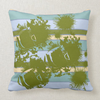 Fish and Sea Urchins Throw Pillow