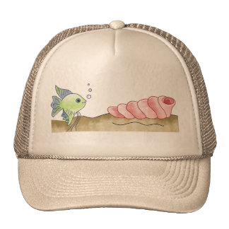 Fish and Seashell Trucker Hat