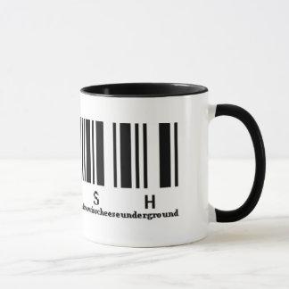 Fish and the CrawDaddys barcode coffee mug