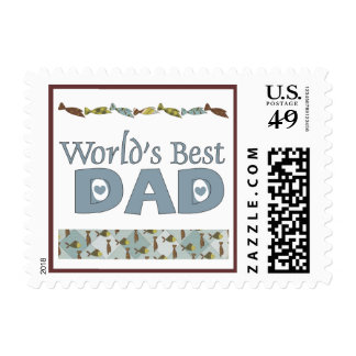 Fish and Ties World's Best Dad Postage