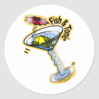 Fish and Tonic Classic Round Sticker