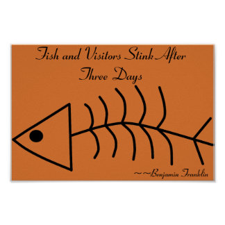 Fish and Visitors Stink After Three Days Print