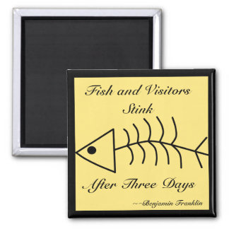 Fish and Visitors Stink Magnet