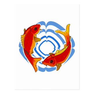 FISH AND WATER RING POSTCARD