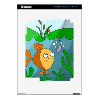 Fish and worm iPad 3 skin
