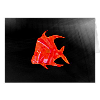 Fish Angel Red Orange 905 The MUSEUM Zazzle Gifts Card