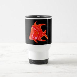 Fish Angel Red Orange 905 The MUSEUM Zazzle Gifts Travel Mug