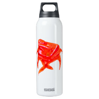 Fish Angel Red Orange 905 The MUSEUM Zazzle Insulated Water Bottle
