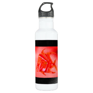 Fish Angel Red Orange 905 The MUSEUM Zazzle Stainless Steel Water Bottle